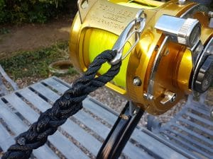Big game rod safety line